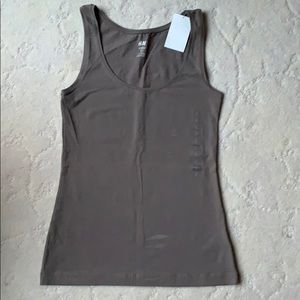 H&am Brownish-Gray Shell Tank, NWT